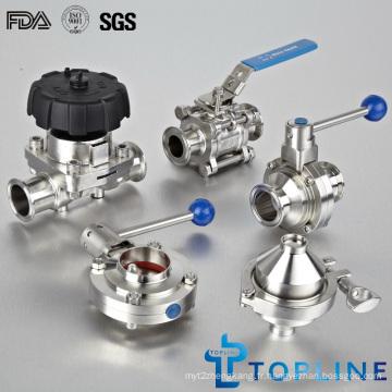 Vannes sanitaires en acier inoxydable (SV)