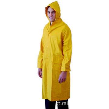 Mens Yellow Waterproof Rain Coat