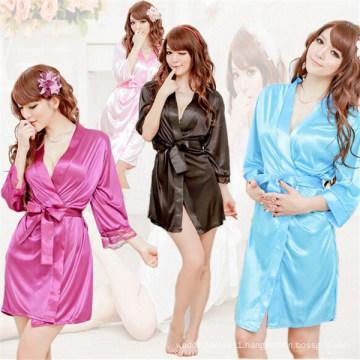 OEM Women Sexy Kimono Lingerie Bathrobe (53021)