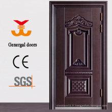Porte de sécurité en acier métallique extérieure ISO9001 Heat Grain