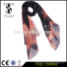 Echarpe en soie géorgette étincelante de haute qualité éblouissante pour robe de soirée