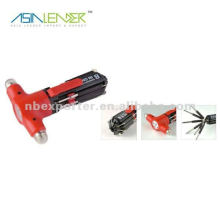 8 in 1 Multi Safety rescue Hammer Screwdriver with LED Torch