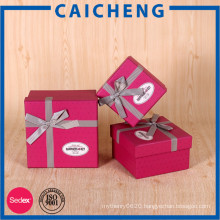 Handmade recycled paper luxury jewelry box with ribbon