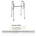 Caminante de aluminio plegable de dos paletas