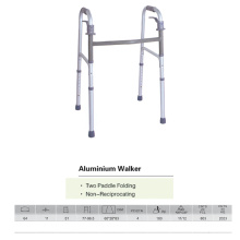 Two Paddle Folding Aluminum Walker
