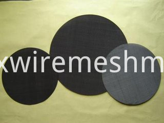 black wire cloth disc