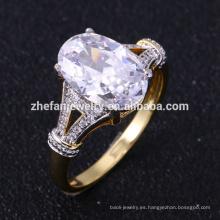Nuevos diseños de oro para niñas aaaaa anillos de zirconia cúbica