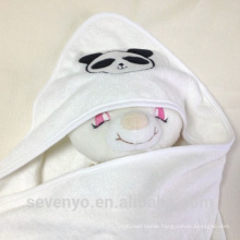 CT-031 Organic bamboo Panda perfect for baby's gentle skin baby gift towel baby hooded towel