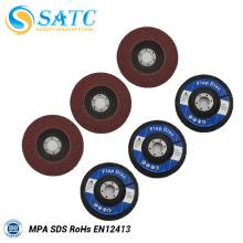 Discos de aleta asegurados Disco de aleta de óxido de aluminio con refuerzo de fibra de vidrio 10 PACK