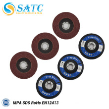 Disques à lamelles assurées Disque à lamelles en oxyde d'aluminium avec support en fibre de verre 10 PACK