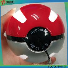 Hot Sale Brand New Magic Ball 10000mAh Pokemon Power Bank with LED Light