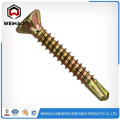 White zinc plated hex head self drilling screw