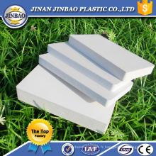 Panneau de mousse recyclé feuilles de plastique PVC 8mm