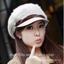 Berret boné com 100% lã menina cap fabricado na china