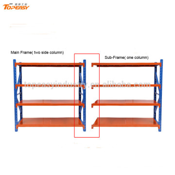 medium iron shelving rack for warehouse system