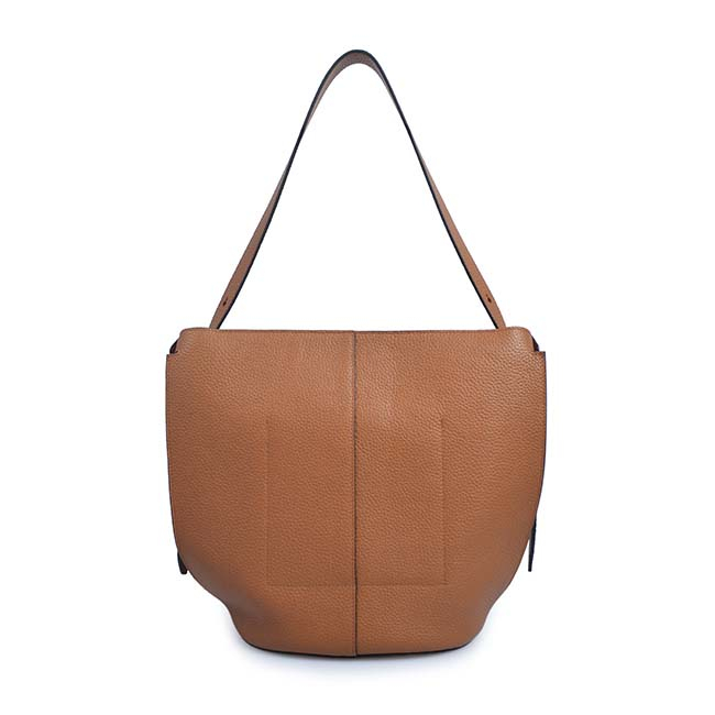 Fashion trend top leather lady hand bag women drawstring bucket bag oem