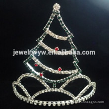 fashion metal full crystal christmas tree headband