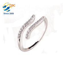 Cadmium free sterling silver jewelry embossed Aquarius constellations ring