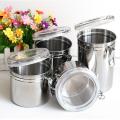 atacado vasilhas de armazenamento de alimentos de aço inoxidável cozinha conjunto com tampa