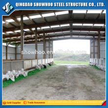 Amplia estructura de acero estructura cabaña cabaña