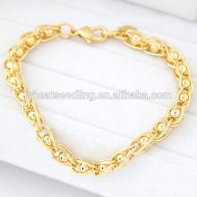 Último design exclusivo senhoras ouro slave pulseira