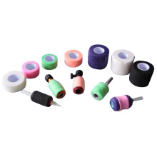 Nonwoven Cohesive Wrap 2 inch Coflex Tattoo Grip Tape Covers 50MM Camouflage Black Elastic Grip Bandages Rolls