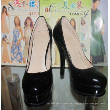 Nuevos zapatos de vestir de tacón alto para mujeres (HCY02-1046)
