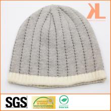 100% акриловая трикотажная шляпа с полосатым краем