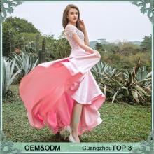 Bom design rosa senhoras maruca festa vestir vestidos de cetim vestidos feitos na China