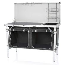 Outdoor multifunctional camping kitchen with a sink