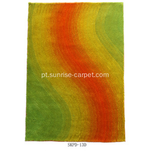 Rainbow Silk Shaggy com Blading Design