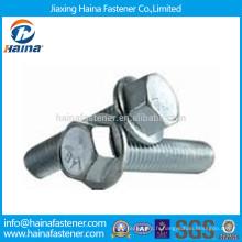 Boulon à bride hexagonale dentée DINI692 / ISO4162 Gr8.8 Fabriqué en Chine