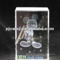 Crystal cube with eiffel