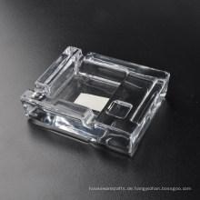 Art und Weise transparenter quadratischer Glasaschenbecher