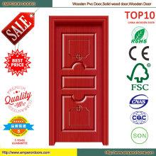Soundproof Best Price Wooden PVC Door