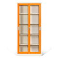 Glass Door Cabinet Metal Sliding Storage Cabinets
