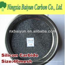 Silicon carbide abrasive for sandblasting