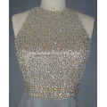 Silver Bling Beading Prom Wedding Dress