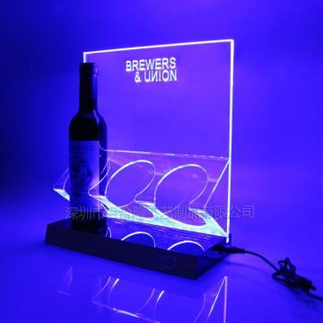 Display porta vino acrilico LED trasparente