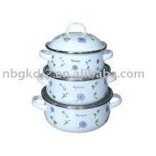 enamel metal casserole with high quality