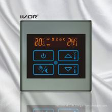 Chauffage par le sol Thermostat Cadre tactile en plastique (SK-HV2300B-M)