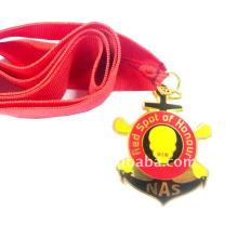 2012 hot sale Medalha de metal desportivo com imitação de esmalte duro