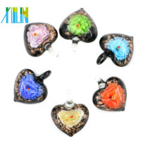 MC0048 Exquisite Lampwork Heart Pendants Fashion Handmade Etsy Glass Beads Pendants Necklace