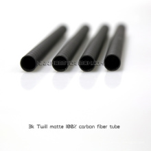 Hobbycarbon 3k twill matte pure carbon fiber tube 12*8*450mm seamless carbon steel pipe use for Multicopter arm