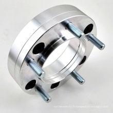 Adaptateur de roue moyeu central avec espace de roue en aluminium