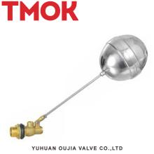 válvula de flotador del nivel de agua del tanque de agua pequeño de la manija larga de latón