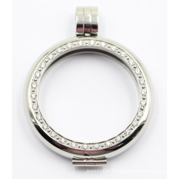 High Quality Rd Edge 316L Stainless Steel Locket Pendant with Interchangeable Coin Plate