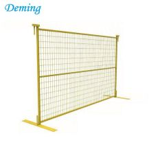 Canada type removable yellow welded temporary fencing