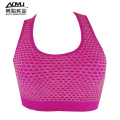 Venta al por mayor Fitness Tops Young Women Seamless Bra top