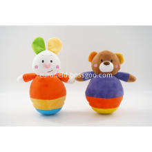 Plush tumbler toy with different animal body